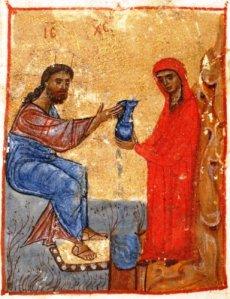 Jesus_and_the_Samaritan_woman_Jruchi_Gospels_II_MSS_Georgia_12th_cent.